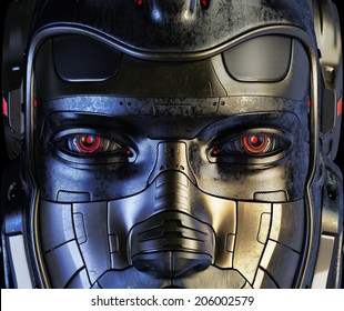 Cool robotic part of face / Cyborg mask