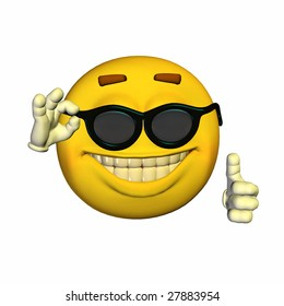 Cool Yellow Emoticon Guy with dark glasses