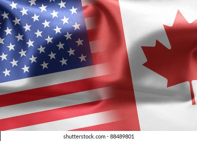 Cooperation between the two countries: the United States and Canada.