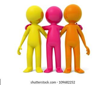 Cooperation/partner/team Three men stood together