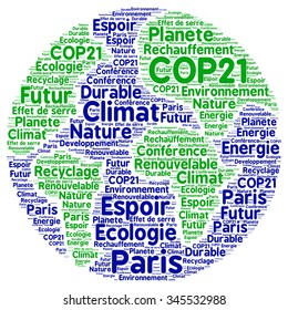 COP21 in Paris with french text