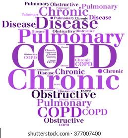COPD - Chronic Obstructive Pulmonary Disease. Disease abbreviation.