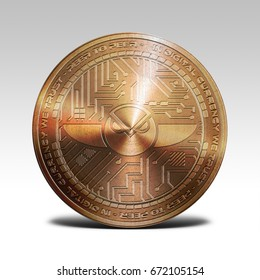 copper gnosis coin isolated on white background 3d rendering