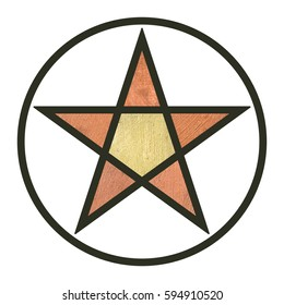 copper and gold painted star