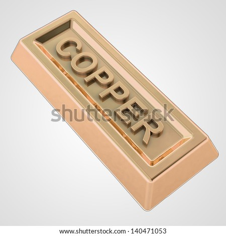Royalty Free Stock Illustration of Copper Ingot Made Pure