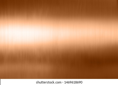 copper metal brushed background or texture