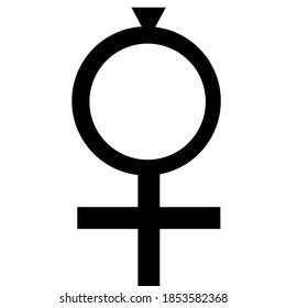 coptic ankh symbol with white background.