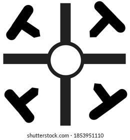 coptic cross symbol with white background.