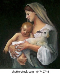 """Copy of Bouguereau's Painting: """"Innocence"""""""