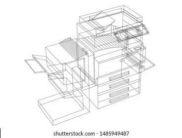 copy machine - 3D Rendering