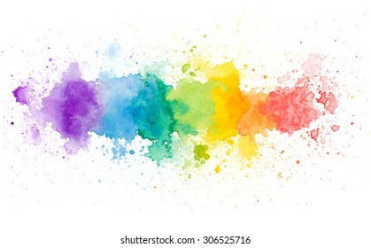 Copy space in colorful water color background