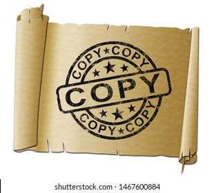 Copy stamp meaning duplicate or replicate a likeness.  A photocopier in the office for paperwork and documents - 3d illustration