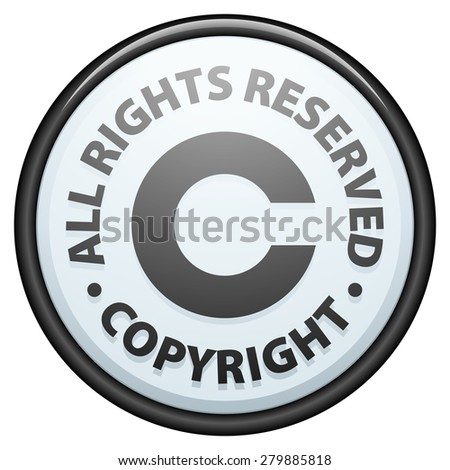 Copyright All Rights Reserved Stock Illustration Royalty Free