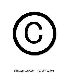 Copyright icon design template isolated illustration
