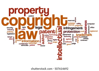 Copyright law word cloud concept