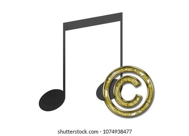 Copyright of a musical work.