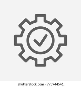Core values: expertise icon line symbol. Isolated  illustration on core values check sign concept for your web site mobile app logo UI design.