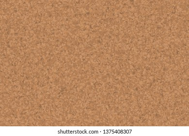 Cork notice board. Natural cork texture. Top view background
