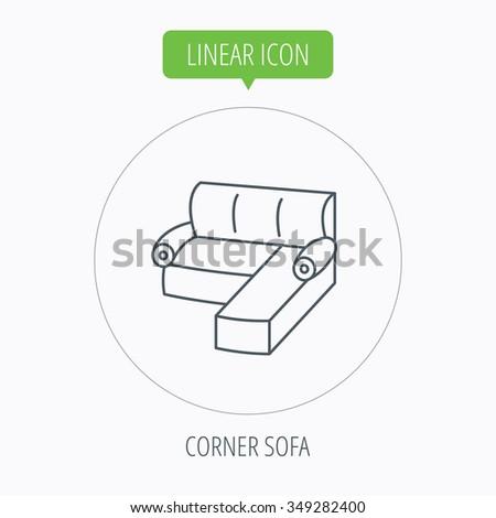 Royalty Free Stock Illustration Of Corner Sofa Icon Comfortable