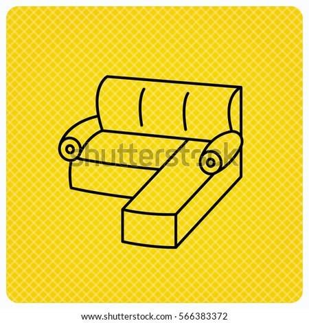 Corner Sofa Icon Comfortable Couch Sign Stock Illustration 566383372