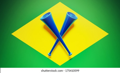 Cornets High Resolution Brazil Flag