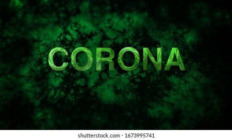 CORONA VIRUS - typography with cells
