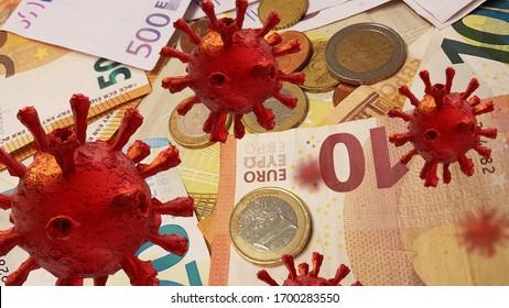 coronavirus covid-19 fonds d'aide financière fonds en euros billets et pièces en euros pour fond