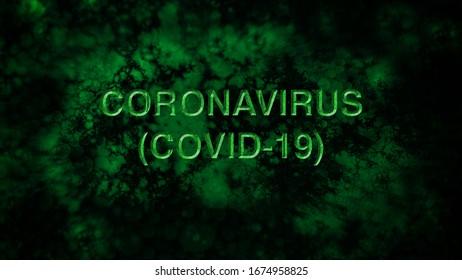 CORONAVIRUS - COVID-19 - Typo Illustration with cells - 02