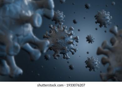 Coronavirus destruction through vaccination  – 3d visualization