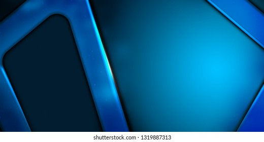 Corporate abstract Blue background, copy space banner, sports theme.