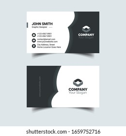 Corporate Black And White Business Card Template