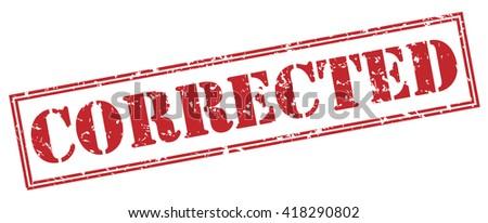 corrected stamp stock illustration 418290802 shutterstock