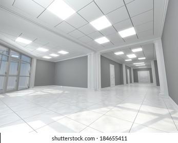 Corridor in classic style