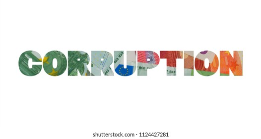 Corruption - fraud, swindle, deceit, cheat and financial wrongdoing with Euro money.