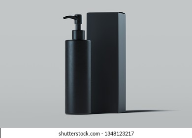 Cosmetic dispenser for cream, gel, lotion. Beauty product package. 3d rendering.