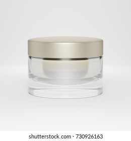 cosmetic jar - 3d illustration