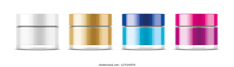 Cosmetic Jar for Cream and other. Transparent version. 3d rendering