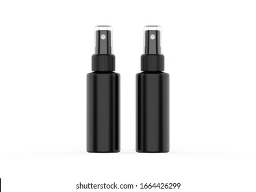 Cosmetic Spray Bottle Mockup template isolated on white background, 3d illustration.