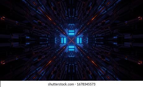 カラフルなレーザー光を使用した宇宙の背景 – デジタル壁紙に最適