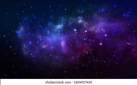 Cosmic Galaxy with Stars Illustration