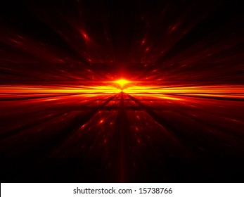 Cosmic Inferno - Fractal Illustration