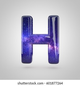 Royalty Free Stock Illustration Of Glossy Holographic Letter H
