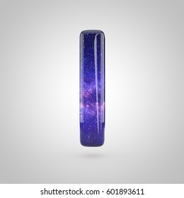 Galaxy Letter Uppercase 3 D Render Cosmic Stock Illustration