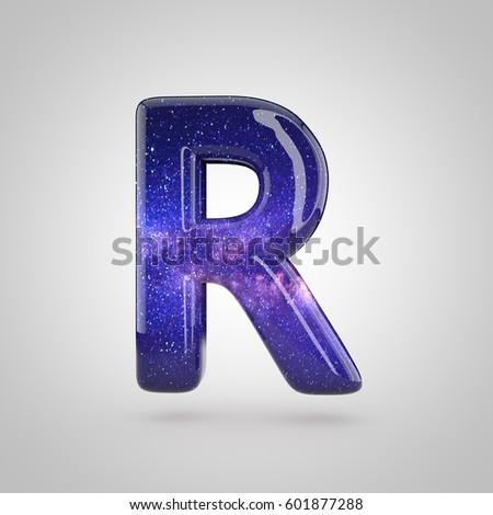 Cosmic Letter R Uppercase 3 D Render Stock Illustration 601877288