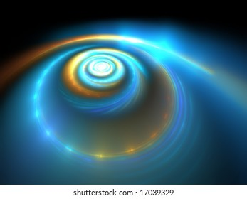 Cosmic Storm  - 3D Fractal Illustration
