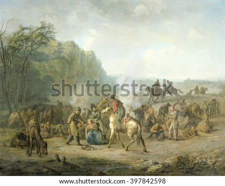 Cossack Bivouac 1813 Louis