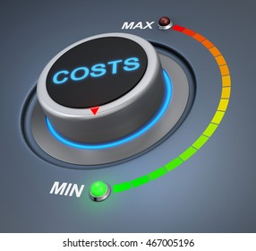 cost button position 3d rendering