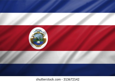 Costa Rica blowing in the wind. Background texture.