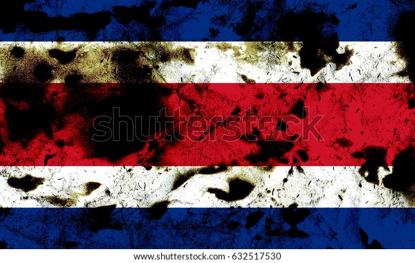 Costa Rica flag grunge background. Background for design in country flag