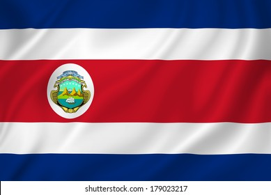Costa Rica national flag background texture.
